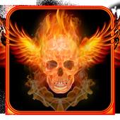 Skull Flame Magma Wing Keyboard Theme icon