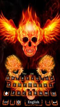 Skull Flame Magma Wing Keyboard Theme poster