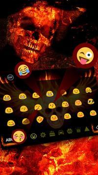 Skull Flame Magma Wing Keyboard Theme apk screenshot