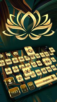 Gold Keyboard For Mate 10 poster