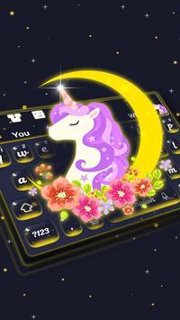 Cuteness Unicorn Keyboard Theme poster