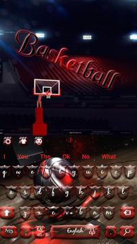 Basketball keyboard theme poster