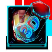 3D Robot Super Hero Keyboard Theme icon