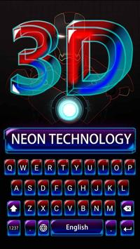 3D Robot Super Hero Keyboard Theme poster