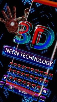 3D Robot Super Hero Keyboard Theme apk screenshot