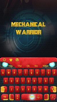 Steel hero keyboard theme poster