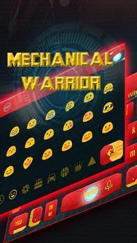 Steel hero keyboard theme apk screenshot
