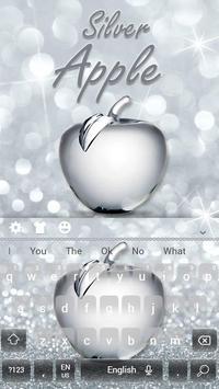Shiny Apple Silver Glitter Keyboard Theme screenshot 3