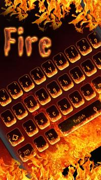 Hell Fire Flames Keyboard Theme poster