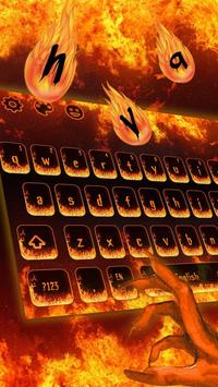 Hell Fire Flames Keyboard Theme screenshot 1