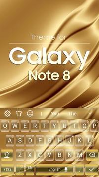 Keyboard for Galaxy Note 8 Gold screenshot 3