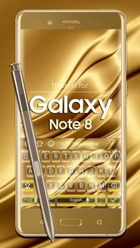 Keyboard for Galaxy Note 8 Gold poster