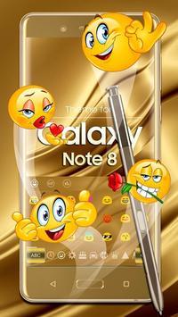 Keyboard for Galaxy Note 8 Gold screenshot 1