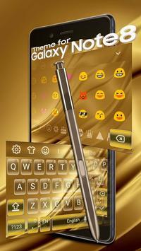 Keyboard for Galaxy Note 8 Gold screenshot 2