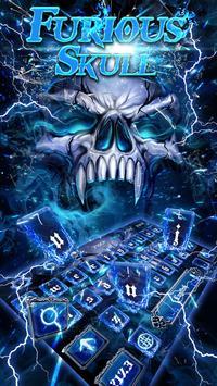 Smoke Skull Keyboard Theme poster