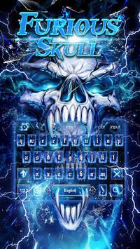 Smoke Skull Keyboard Theme screenshot 1