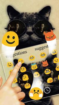 Black Cat Keyboard Theme apk screenshot