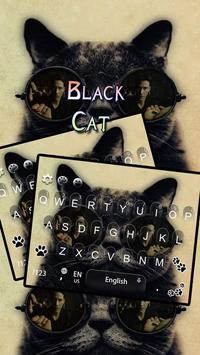 Black Cat Keyboard Theme poster