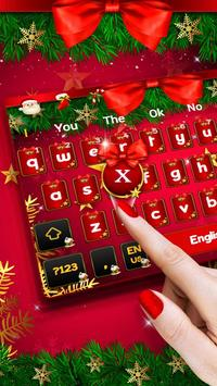 Christmas Bow Keyboard poster