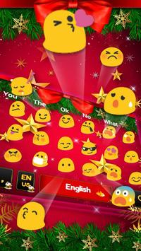 Christmas Bow Keyboard Theme apk screenshot