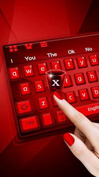 Red Keyboard Theme poster