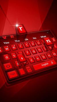 Red Keyboard Theme screenshot 2