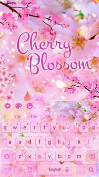 Cherry Blossom Sakura Flower Keyboard Theme screenshot 3