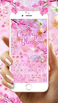 Cherry Blossom Sakura Flower Keyboard Theme poster