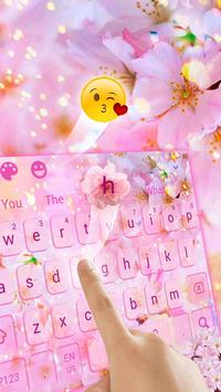 Cherry Blossom Sakura Flower Keyboard Theme screenshot 1