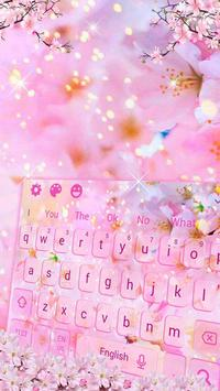 Cherry Blossom Sakura Flower Keyboard Theme screenshot 2