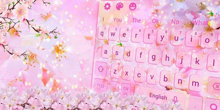 Cherry Blossom Sakura Flower Keyboard Theme screenshot 4
