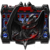 Dark Dragon Hell devil Skull Keyboard 3D icon
