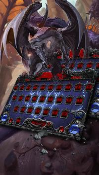 Dark Dragon Hell devil Skull Keyboard 3D apk screenshot