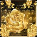 Luxury Gold Rose Deluxe keyboard theme APK