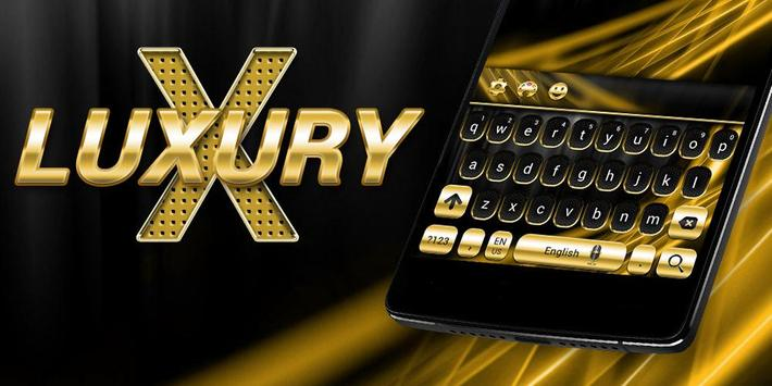 Gold and Black Luxury Keyboard poster