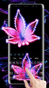 Purple Neon Rasta Weed Keyboard screenshot 2