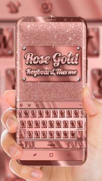 Rose Gold Keyboard Theme 海報