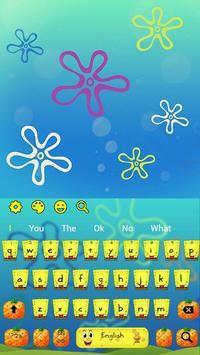 Yellow Cartoon Keyboard Theme screenshot 3