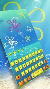 Yellow Cartoon Keyboard Theme poster