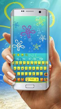 Yellow Cartoon Keyboard Theme screenshot 2