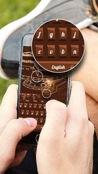 Sweet Chocolate Candy Keyboard screenshot 1