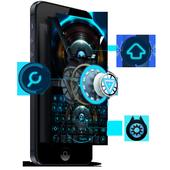 Alien technology keyboard dark blue glare keyboard icon