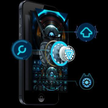 Alien technology keyboard dark blue glare keyboard poster