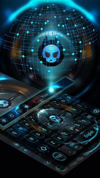 Alien technology keyboard dark blue glare keyboard screenshot 1