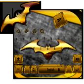 Gold Bat Keyboard Theme icon