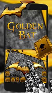 Gold Bat Keyboard Theme poster