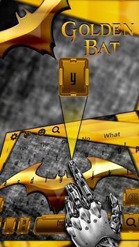 Gold Bat Keyboard Theme screenshot 1