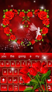 Red Rose diamond keyboard Theme screenshot 2