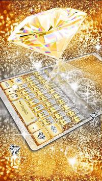 Gold Vivid Diamond Keyboard Theme screenshot 1