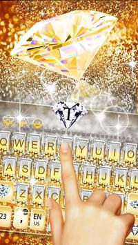 Gold Vivid Diamond Keyboard Theme screenshot 4